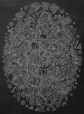 Kreskówek doodles pomysłu śliczna ręka rysująca ilustracja Obraz Stock