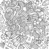 Kreskówek doodles sporta śliczna ręka rysująca ilustracja Obrazy Stock