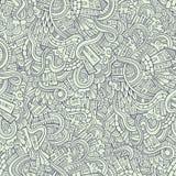 Kreskówek doodles wektorowa ręka rysujący miasteczko Obrazy Royalty Free
