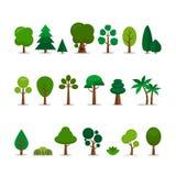 Kreskówek drzewa Ustawiający Zdjęcia Stock