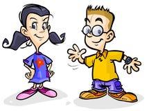 Kreskówek dzieci. Zdjęcia Royalty Free