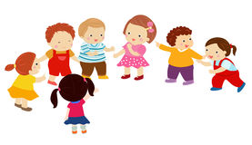 Kreskówek dzieci bawić się ilustracja wektor