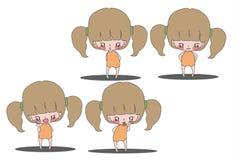 Kreskówek dziewczyny 2 Obraz Stock