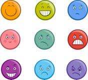 Kreskówek emoticons twarze ustawiać ilustracji