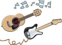 Kreskówek gitary Zdjęcie Stock