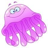 kreskówek jellyfish Zdjęcie Royalty Free