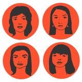 Kreskówek kobiet charaktery Zdjęcie Royalty Free