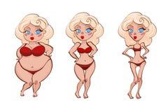 kreskówek kobiety trzy zdjęcie stock