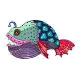 Kreskówek komiczki morze lub rzeki ryba Obraz Royalty Free