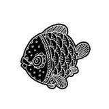 Kreskówek komiczki morze lub rzeki ryba Obraz Stock