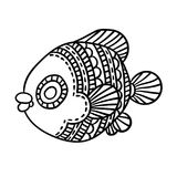 Kreskówek komiczki morze lub rzeki ryba Obrazy Stock