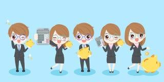 Kreskówek ludzie biznesu royalty ilustracja