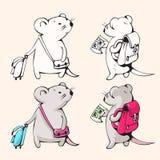 Kreskówek myszy Zdjęcia Stock