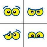 kreskówek oczy Obraz Stock