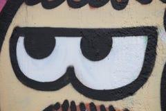 Kreskówek oczy malujący na ścianie Obrazy Stock