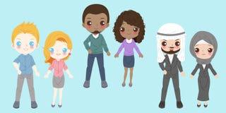 Kreskówek różnorodni ludzie ilustracja wektor