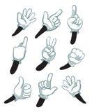 Kreskówek ręki, gloved ręki części ciało wektoru ilustracja Fotografia Royalty Free