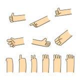 Kreskówek ręk znak dla promocyjnego sztandaru Zdjęcia Royalty Free