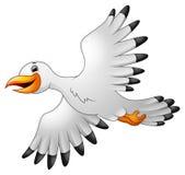 Kreskówek seagulls latać ilustracji