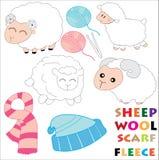 Kreskówek sheeps Ilustracji
