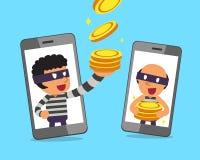 Kreskówek smartphones i Zdjęcia Stock