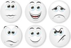 Kreskówek twarze z emocjami Fotografia Royalty Free
