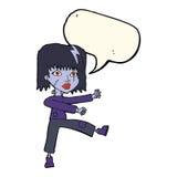 kreskówek undead dziewczyna z mowa bąblem Zdjęcia Royalty Free