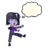 kreskówek undead dziewczyna z myśl bąblem Fotografia Royalty Free