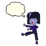 kreskówek undead dziewczyna z myśl bąblem Fotografia Stock
