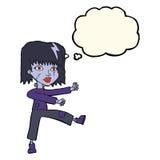 kreskówek undead dziewczyna z myśl bąblem Obrazy Royalty Free