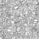 Kreskówek wektorowi pociągany ręcznie Doodles na temacie Obraz Stock