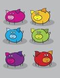 kreskówek świnie Zdjęcia Royalty Free