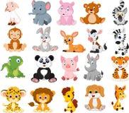 Kreskówek zwierząt kolekci set ilustracja wektor
