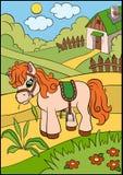 Kreskówek zwierzęta dla dzieciaków Mały śliczny konik royalty ilustracja