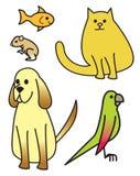 kreskówek zwierzęta domowe pięć Obrazy Stock