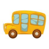 Kreskówka ścisły żółty autobus szkolny z dużymi okno royalty ilustracja