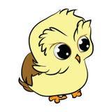 Kreskówka śliczna dziecko sowa ilustracja wektor