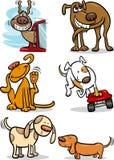 Kreskówka śliczni psy ustawiający royalty ilustracja