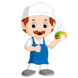 Kreskówka śliczny śmieszny szef kuchni royalty ilustracja
