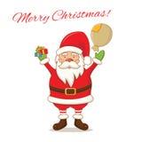 kreskówka śliczny Święty Mikołaj wektor royalty ilustracja
