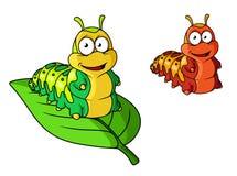Kreskówka śliczny gąsienicowy charakter Fotografia Royalty Free