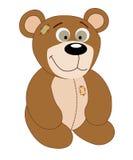 Kreskówka śliczny niedźwiedź na białym tle Royalty Ilustracja