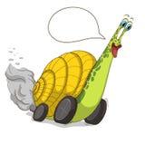 Kreskówka ślimaczek z kołem Royalty Ilustracja