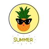 Kreskówka śmieszny ananas royalty ilustracja