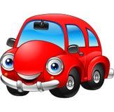 Kreskówka śmieszny czerwony samochód royalty ilustracja