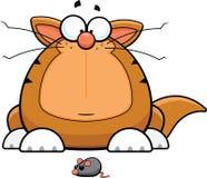 Kreskówka Śmieszny kot Z Zabawkarską myszą royalty ilustracja