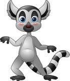 Kreskówka śmieszny lemur royalty ilustracja