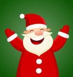 Kreskówka Święty Mikołaj na zielonym tle Zdjęcia Royalty Free