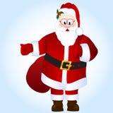 Kreskówka Święty Mikołaj z torbą z prezentami Zdjęcie Stock