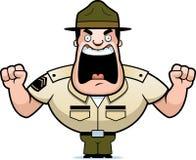 Kreskówka świderu sierżant Gniewny ilustracja wektor